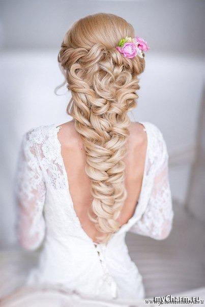 Свадебная прическа с накладными волосами фото