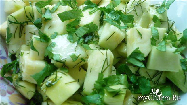 Салат на зиму грибы с кабачками