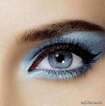 Как на фотке сделать голубые глаза
