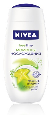 NIVEA / Крем-гель для душа Моменты наслаждения