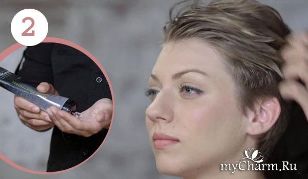 Как женщине уложить волосы назад