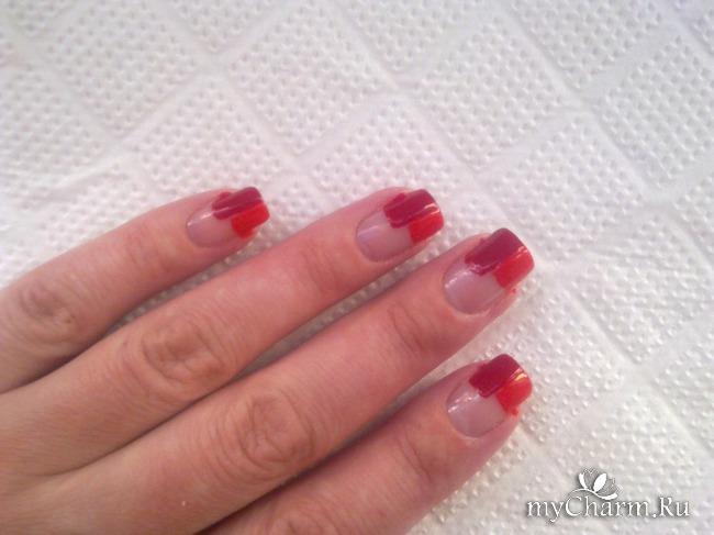 Как нарисовать ровно полоски на ногтях