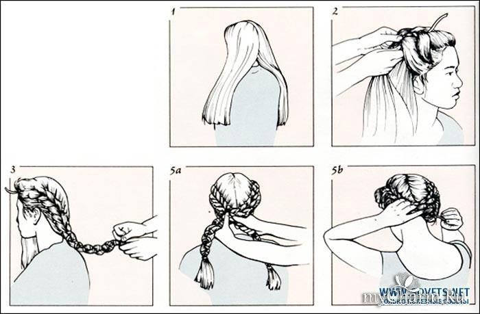 прически на длинные волосы косички схемы
