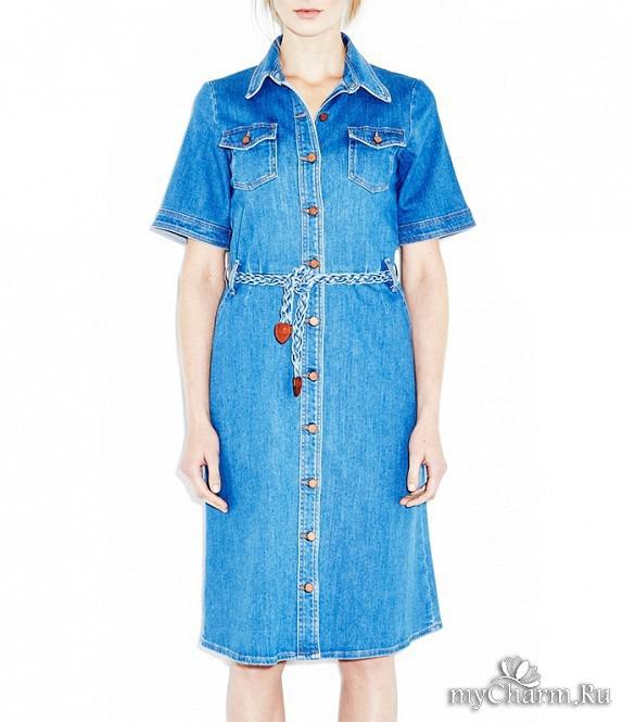 Платье сафари джинсовое купить