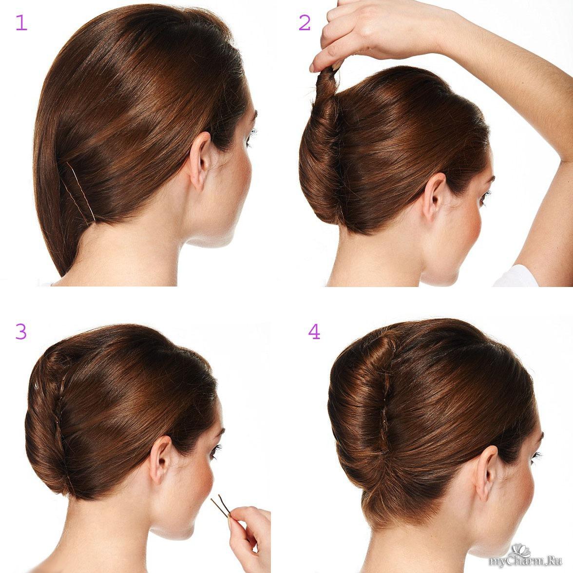 Прическа ракушка на длинные, средние и короткие волосы пошаговая