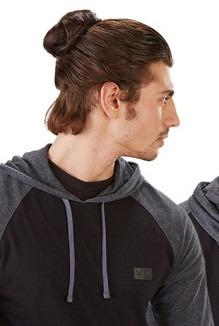 Мужская причёска пучок