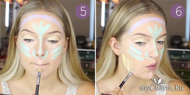 Рисунок для создания макияжа