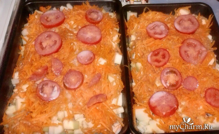 Блюдо из кабачка в микроволновке