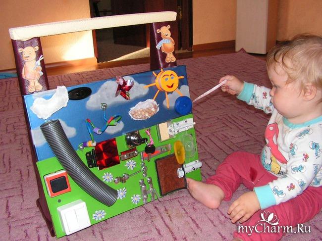 Развивающие игрушки для малышей своими руками мастер класс