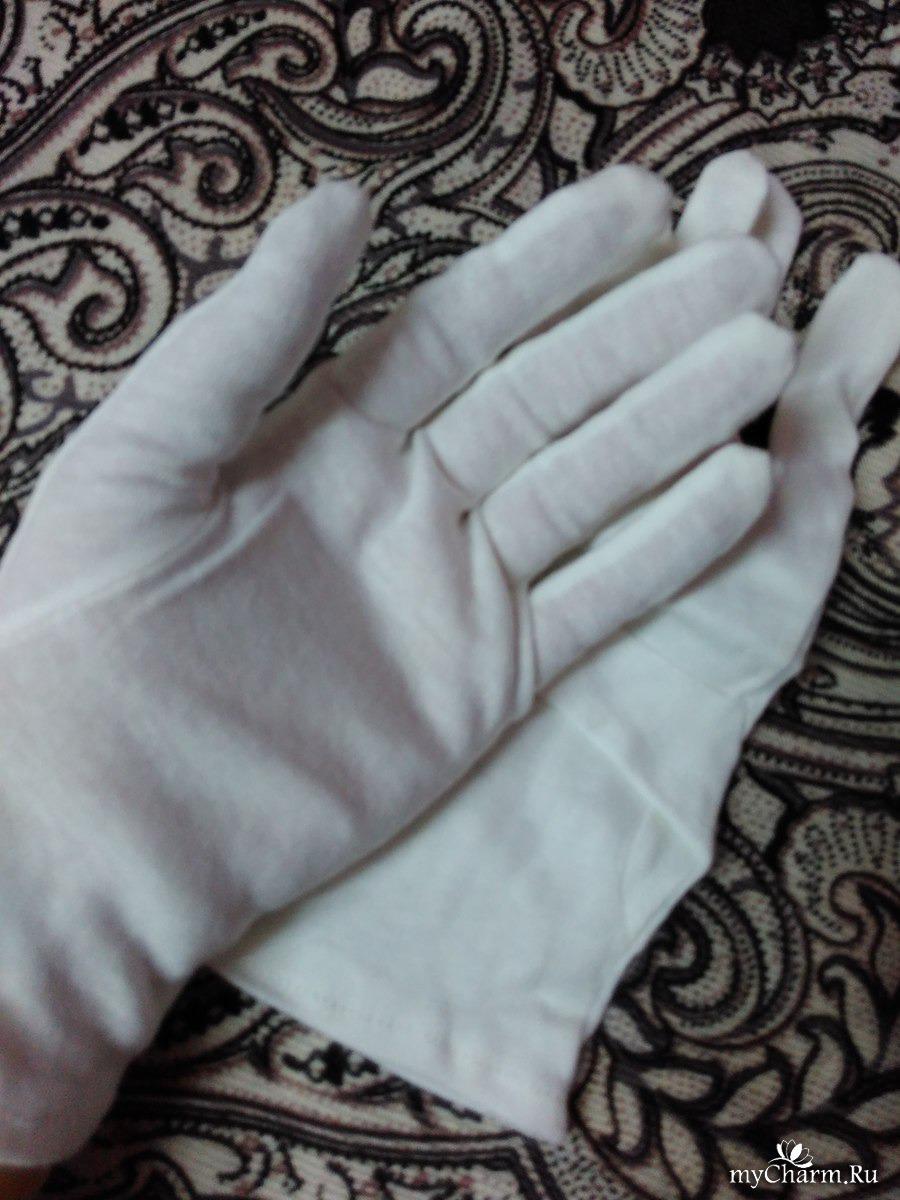 Хлопчатобумажные перчатки косметические своими руками 783