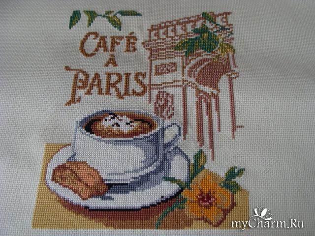 Кофе для нее вышивка схема 22