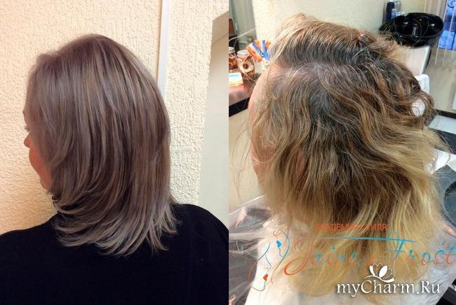 Как в домашних условиях закрасить седину волос у