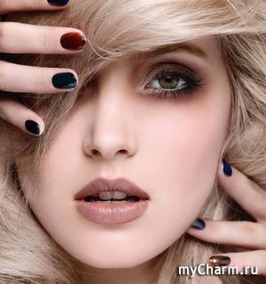 Новогодний макияж в модных матовых оттенках
