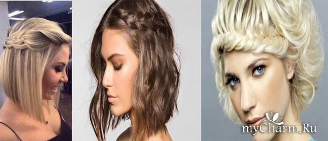 Прическа на волосы со стрижкой каре