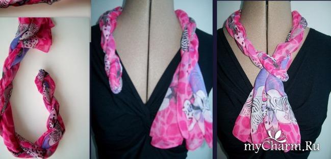 15 простых и элегантных способов завязывания шарфа или шейного платка