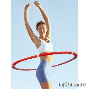 Упражнения с обручем (хулахупом) для похудения с фото