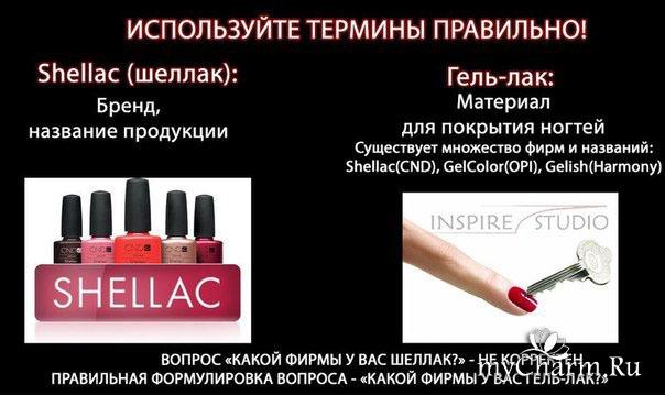 Шеллак чем отличается от гель лака для ногтей