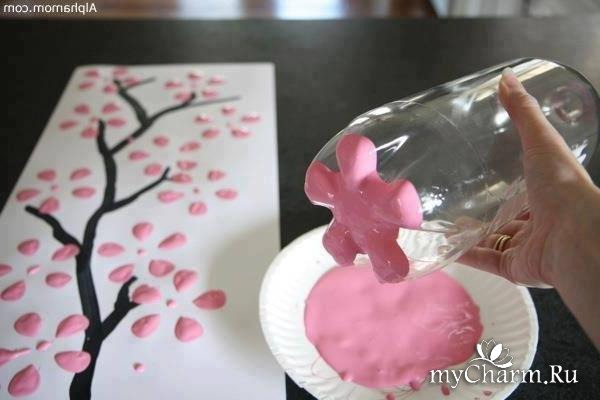 Штампы для рисования цветов своими руками для доу