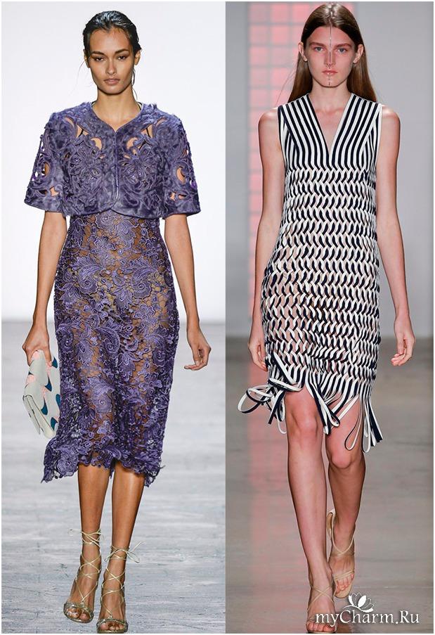 Посмотреть модных платьев