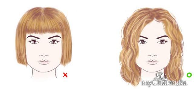 Какая причёска подходит для квадратного лица