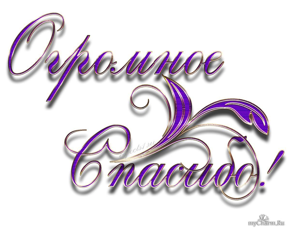 Написать красиво спасибо за поздравления