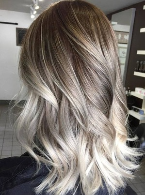 Ash-blonde Ombre