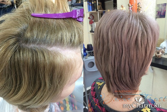 Фото покраски волос для стрижки каскад
