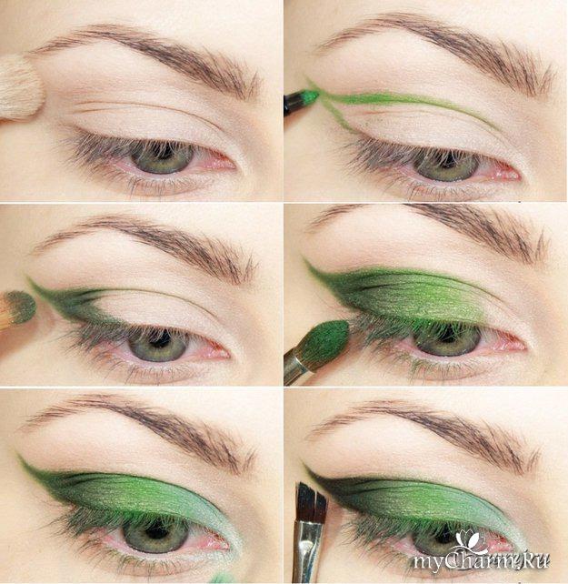 Стильный макияж для зеленых глаз