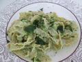 Брокколи в соусе+паста