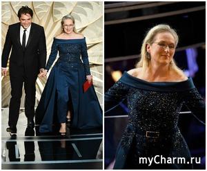 В чем Мерил Стрип пришла на «Оскар» после скандала с Chanel