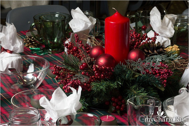 Оформление новогоднего стола 2016 фото своими руками фото