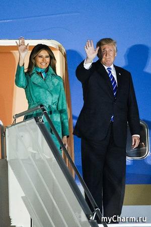 Мелания и Иванка Трамп в Польше: наряды жены и дочки американского президента