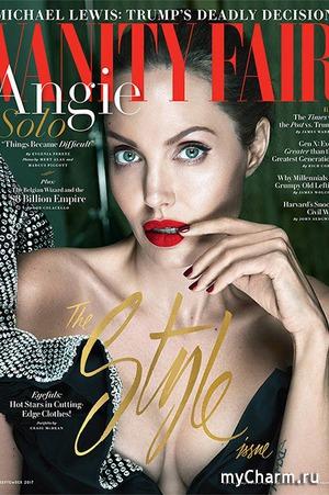 Эффектная Джоли на обложке Vanity Fair