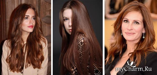 Тёпло каштановый цвет волос