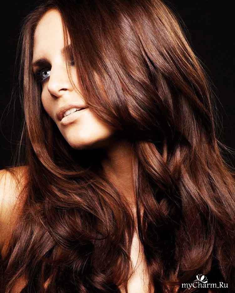 Все оттенки коричневого на волосы фото