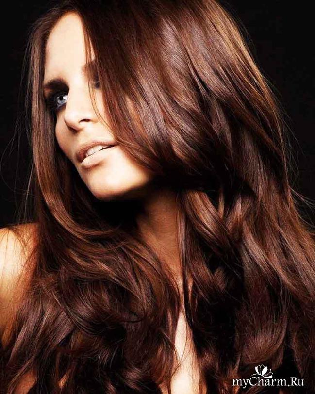 Оттенки темного медного цвета волос