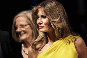 Желтое платье Мелании Трамп от Christian Dior