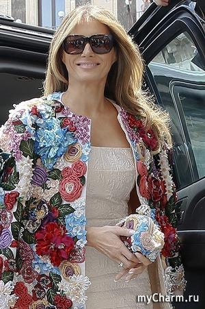 Мелания Трамп в пальто Dolce&Gabbana