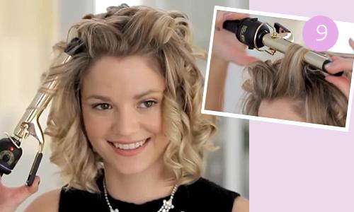 Как сделать укладку с кудрями на короткие волосы