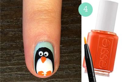 Пингвин на ногтях