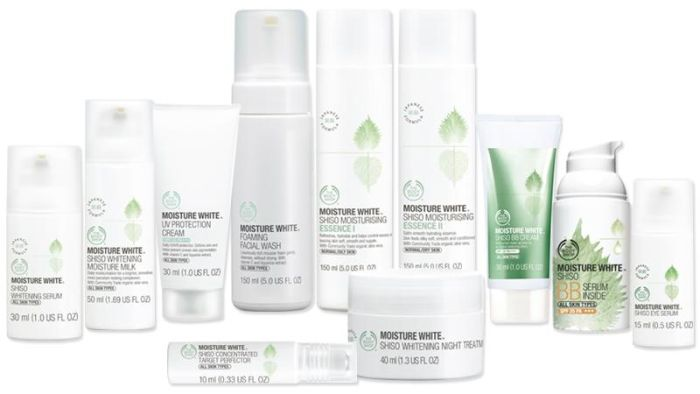New Products The Body Shop: means for skin whitening Moisture White