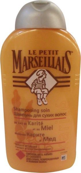 le petit marseillais / шампунь для сухих волос молочко карите и мёд