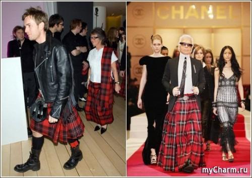 Шотландская юбка на парне