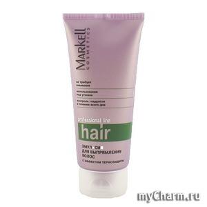 Markell / Эмульсия для выпрямления волос с эффектом термозащиты