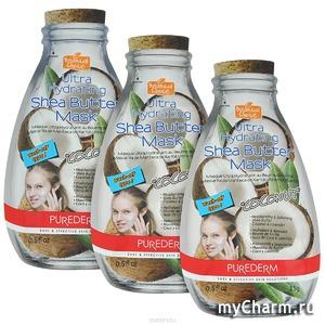 "Purederm / Маска для лица Ultra Hydrating Shea Butter Mask ""Coconut"""