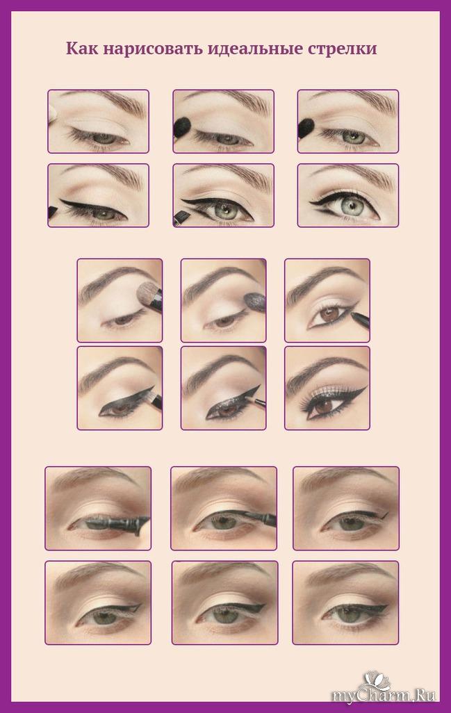 правила макияжа глаз с картинками объективах