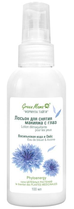 Green Mama / Лосьон для снятия макияжа с глаз Васильковая вода и Овёс