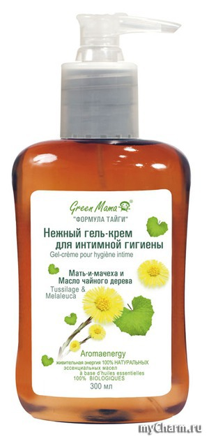 Green Mama / Нежный гель-крем для интимной гигиены Мать-и-мачеха и Чайное дерево