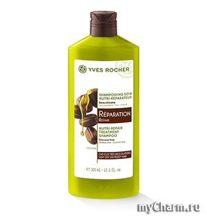 Yves Rocher / Шампунь для восстановления поврежденных волос Botanical Hair Care Nutri-Repair Treatment Shampoo