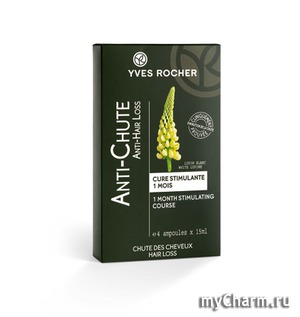 Yves Rocher / Стимулирующее средство против выпадения волос Anti-Hair Loss 1 Month Stimulating Course